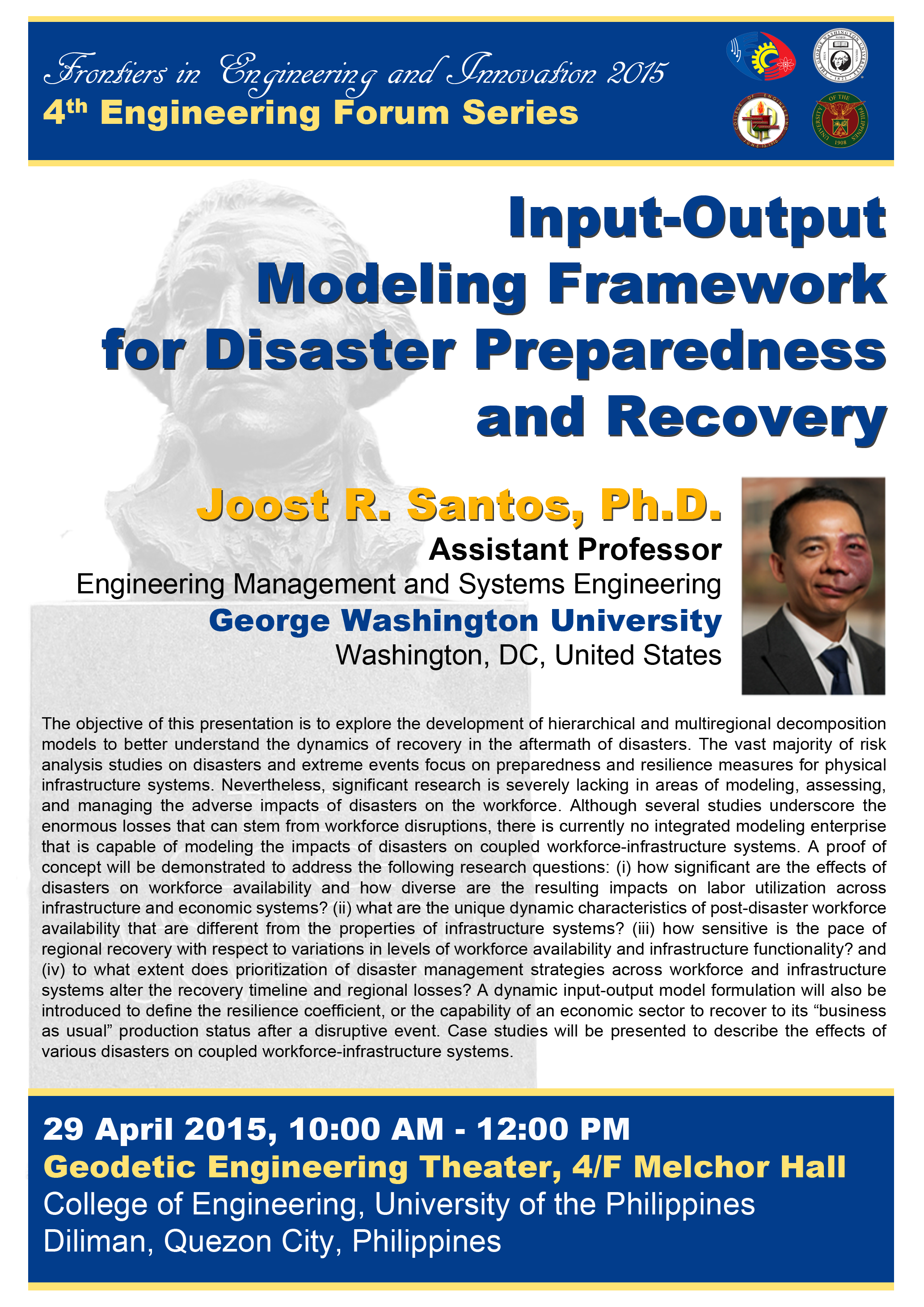 Input-Output Modeling Framework for Disaster Preparedness and Recovery